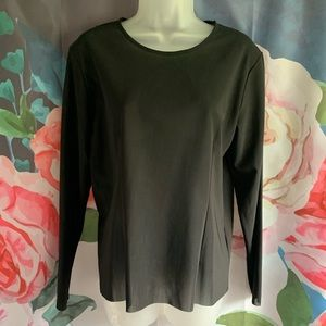 COS Thick Sheer Black Blouse